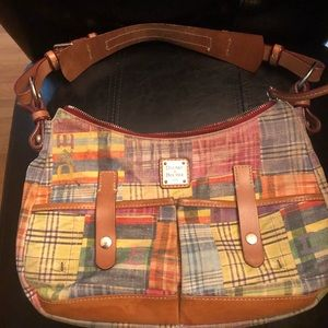 Vintage Dooney & Bourke 🐜 Madras Purse